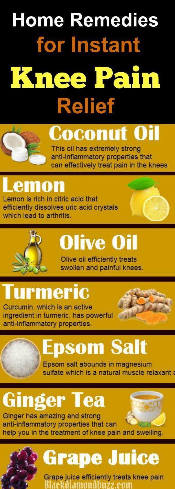 Home Remedies for knee Pain Relief - These home remedies are powerful to treat your knee joint pain and arthritis in the knee