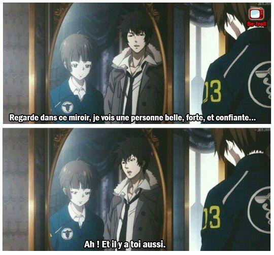 Regarde dans ce miroir, je vois une personne belle, forte, et confiante... #Manga #Anime