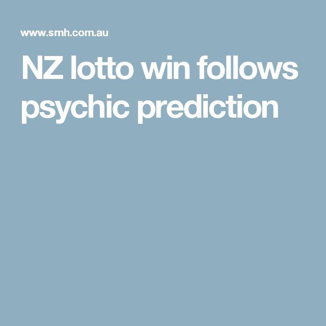 NZ lotto win follows psychic prediction