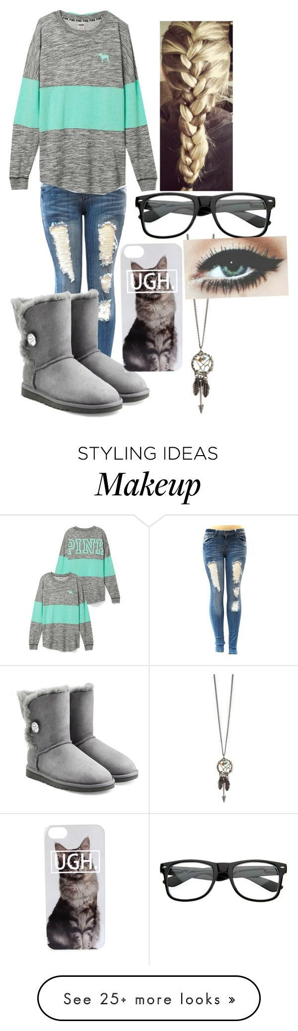 """Lazy dayz"" by alyssamar on Polyvore featuring UGG Australia"