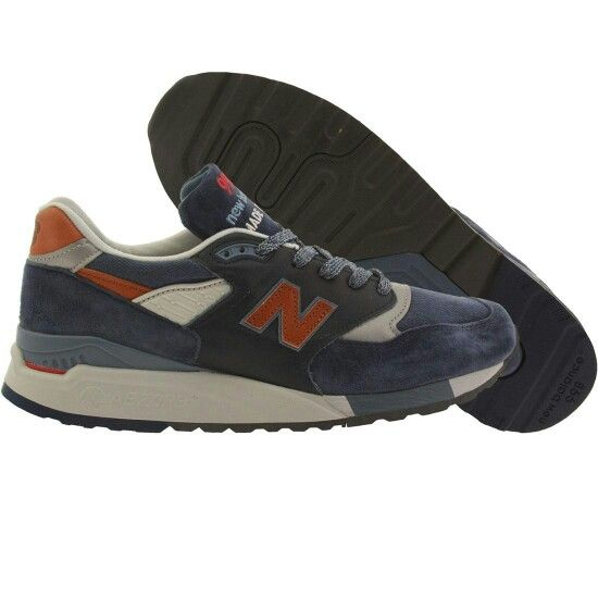 New balance; NEW BALANCE MEN 998 DISTINCT RETRO SKI M998DSNG MADE IN USA  (NAVY / BLUE ASTER