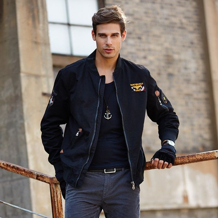 Bomber jacket men coats Cotton jaquetas Patch Military jacket Army Brand clothing New 2016 Mens jackets and coats