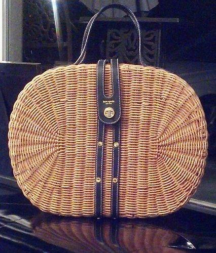 Kate Spade LArge Wicker Basket purse