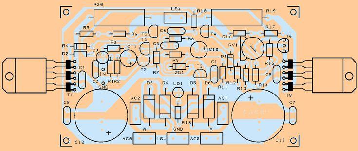 pcb-board-darlington-transistor-tip147-tip142-amplifier ...