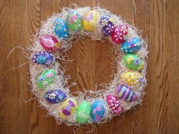 9 best real life images on pinterest real life easter gift and easter egg wreath perfect for grandparents have each child decorate a few eggs to negle Choice Image