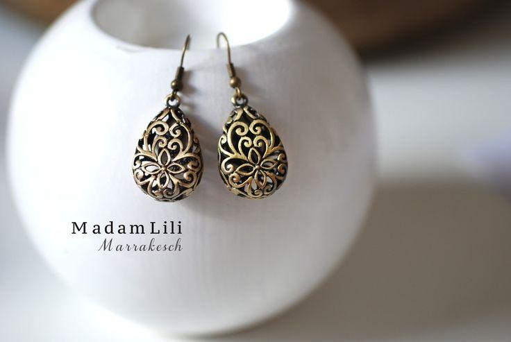 MARRAKESH Bronze Ohrringe Vintage Stil von MadamLili - Lebensfreude zum Tragen! :) auf DaWanda.com