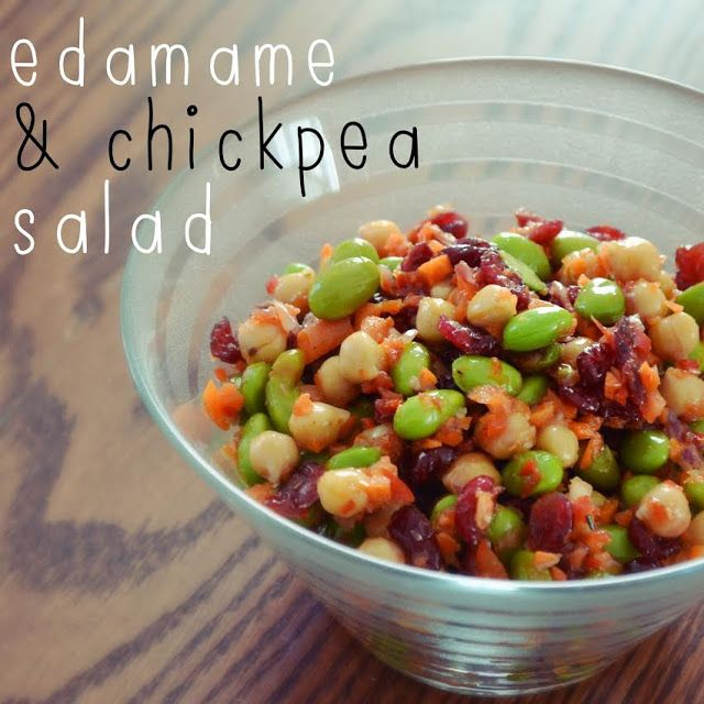 Edamame and chickpea salad! Quick and delicious!
