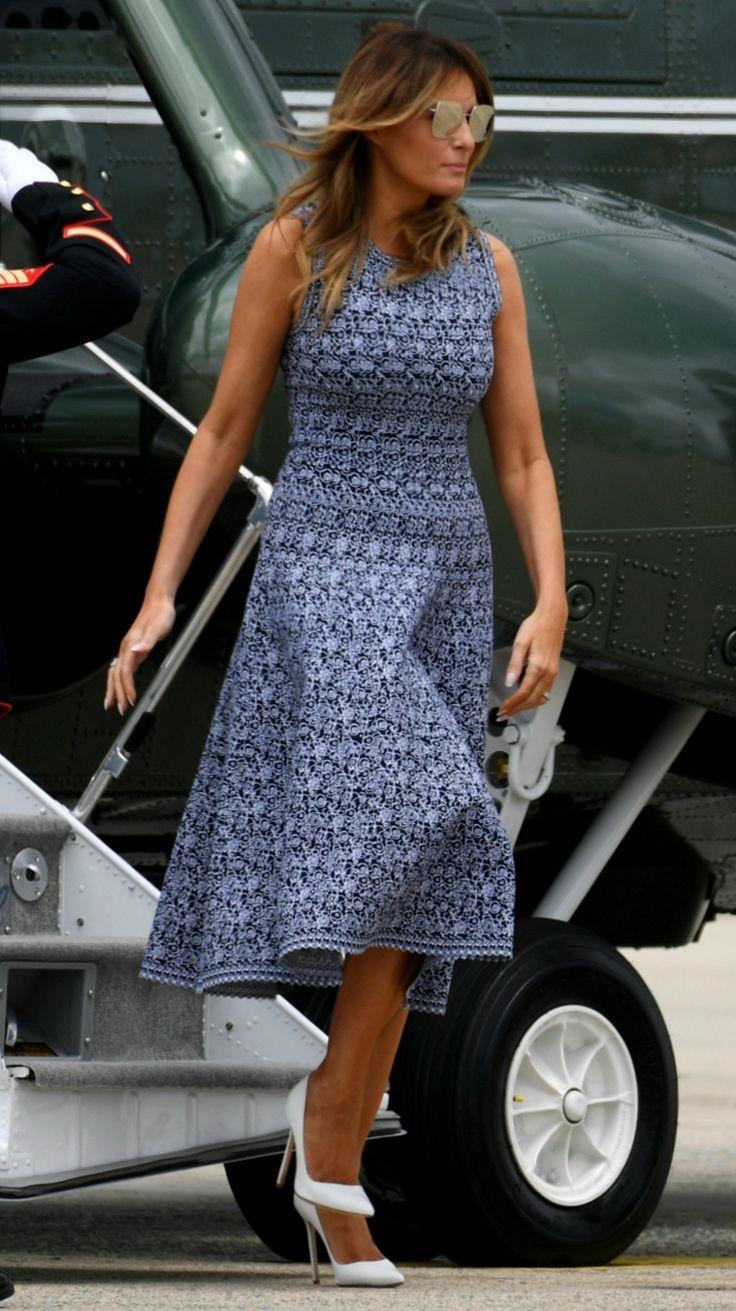 Flotus Melania Trump Departs From Washington D C On May 27 2020 In 2020 Melania Knauss Trump First Lady Melania Trump Fashion