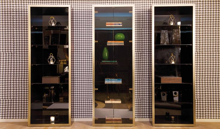 DOM EDIZIONI Ebony Makassar, Juliette Bookcase , Robert Cabinet #domedizioni #makassarebony #juliette #robert #bookcase