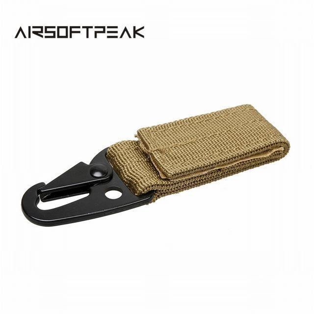 Carabiner Nylon Key Hook MOLLE Webbing Buckle Hanging System Belt Buckle Hunting