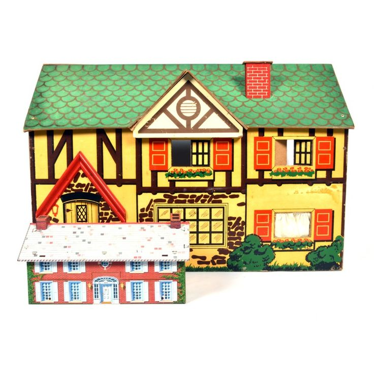 Vintage Doll House and Accessories