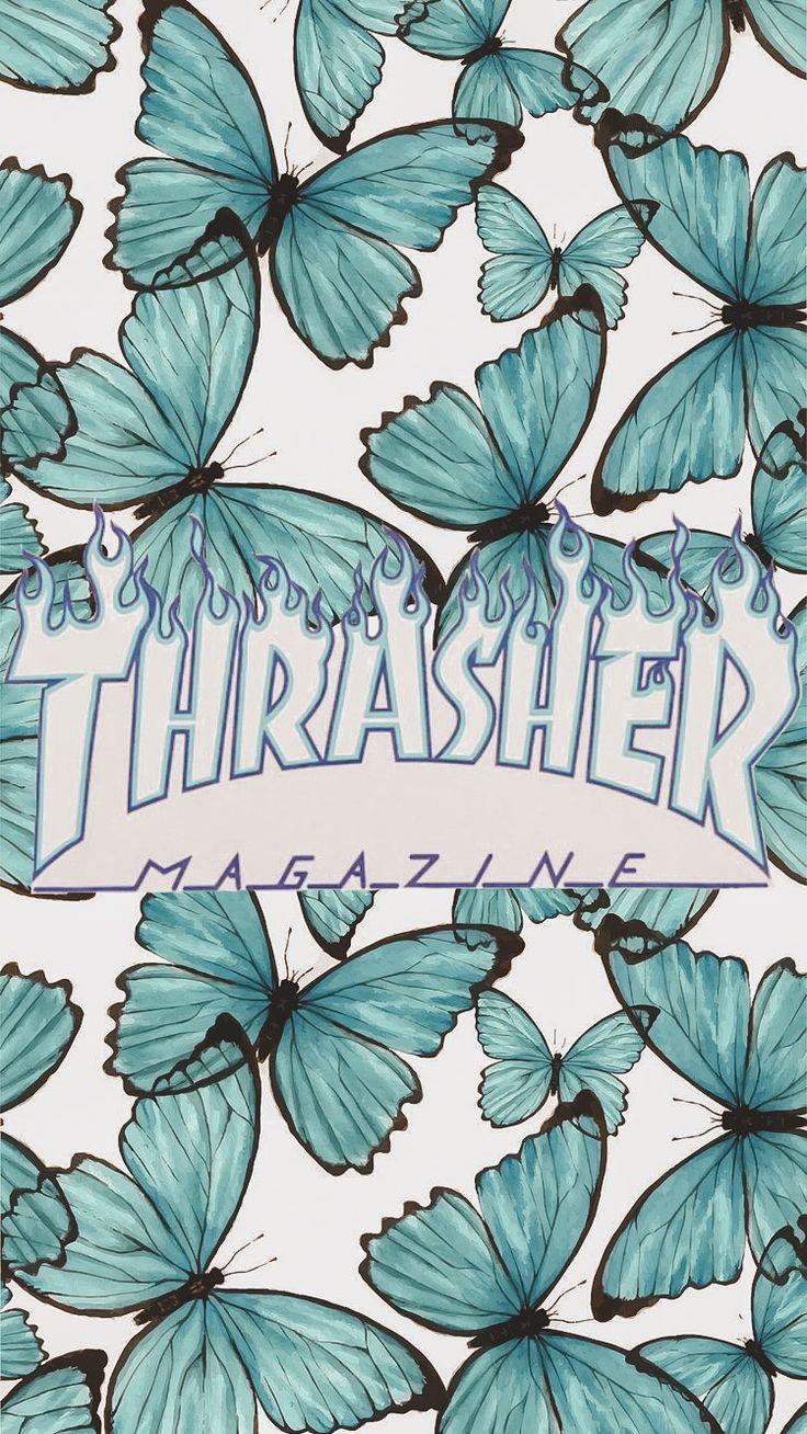 Thrasher Butterfly Wallpaper in 2020 Butterfly wallpaper