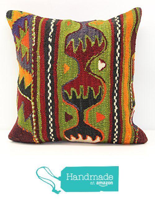 Throw kilim pillow cover 16x16 inch (40x40 cm) Decorative Boho kilim pillow cover Home Decor Natural Pillow cover Garden decor Kilim Cushion Cover from Kilimwarehouse https://www.amazon.com/dp/B06Y2F55Q9/ref=hnd_sw_r_pi_dp_IYK5ybZ68Y1EC #handmadeatamazon