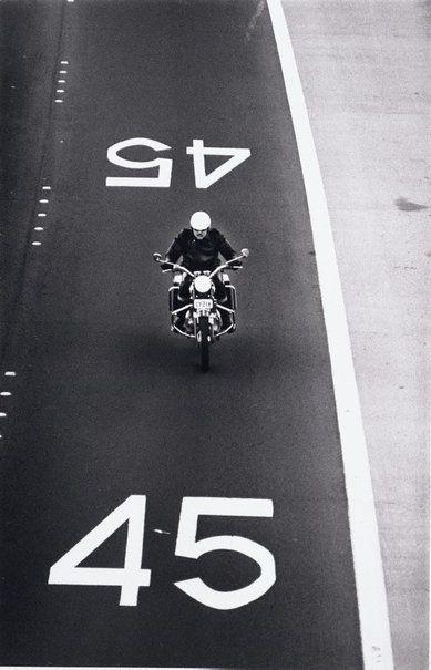 David Moore (1927-2003) - Motorcyclist, Warringah Expressway, Sydney, 1971.