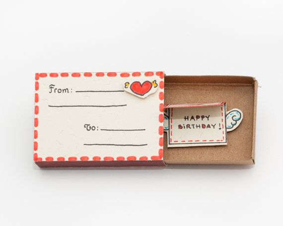 Happy Birthday Card / Matchbox/ Gift box / Message box by shop3xu