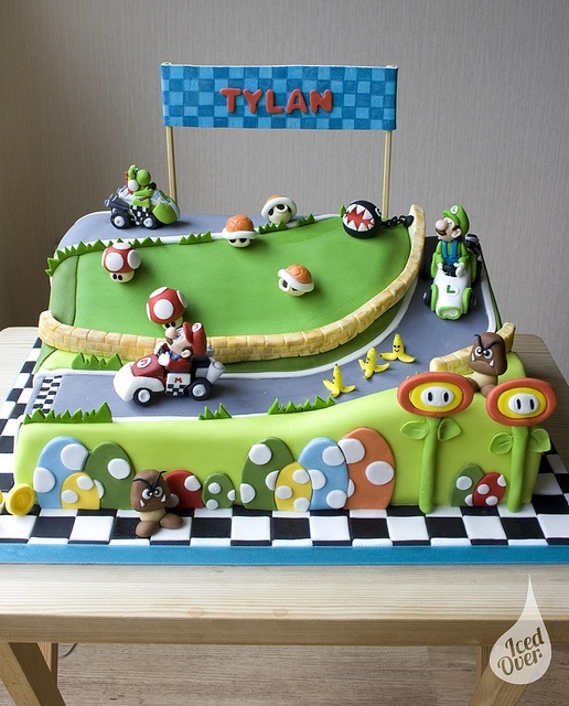 I want to do this for my son's Birthday!!!Mega Mario Kart cake!