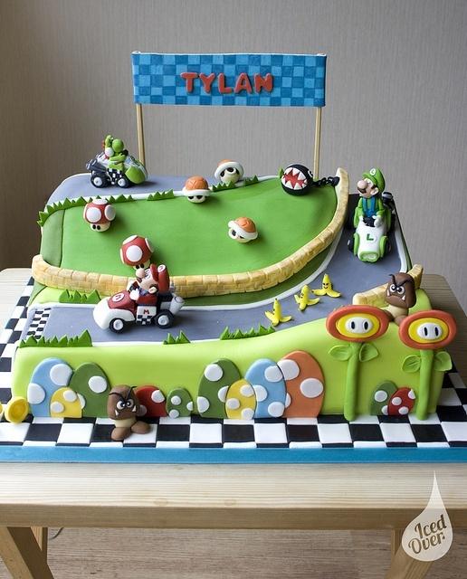Mega Mario Kart cake!