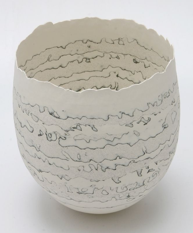 Cheryl Malone Porcelain - stratified Vessel Series