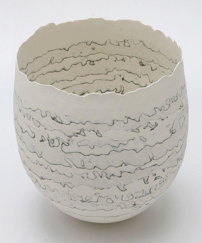 Cheryl Malone Porcelain - stratified Vessel Series