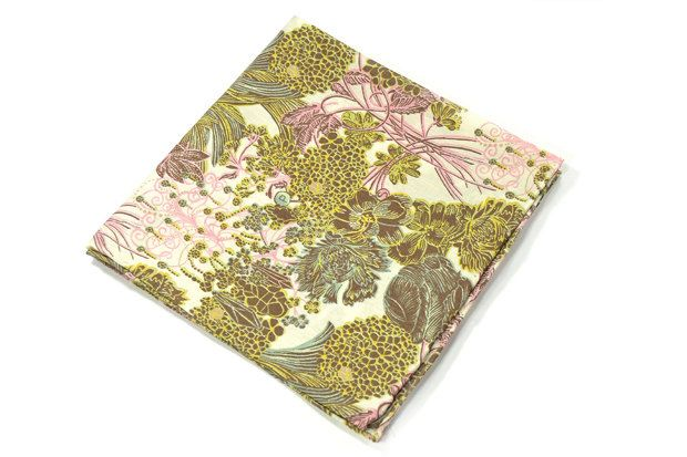 Wedding Mens Pocket Square -Kurt Schaffenberger- Yellow Gold and pink Flowers Liberty cotton by speaklouder on Etsy https://www.etsy.com/listing/111604922/wedding-mens-pocket-square-kurt