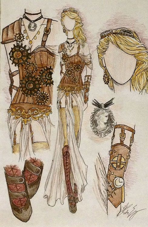 Steampunk Clothing Girl Drawing | Www.pixshark.com - Images Galleries With A Bite!