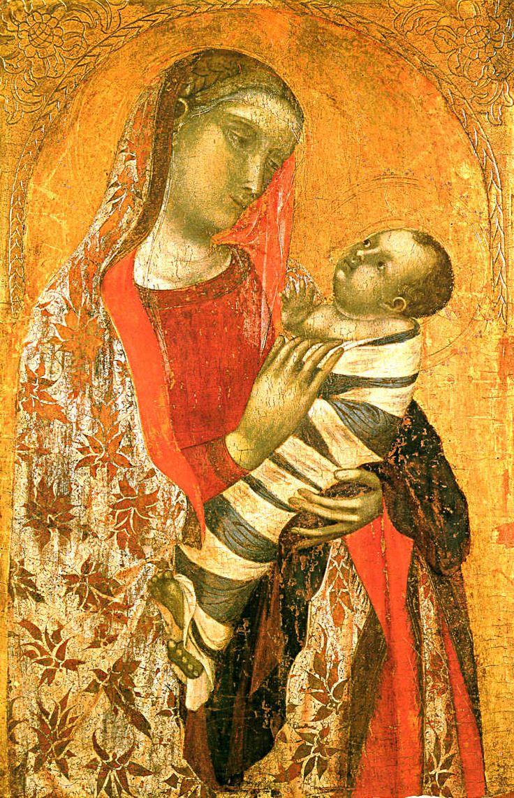 Ambrogio Lorenzetti - Madonna col Bambino (ca. 1320-1330) - Milano, Pinacoteca di Brera - #Siena #AmbrogioLorenzetti #PinacotecaDiBrera