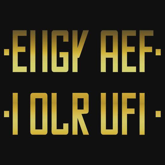 FUCK OFF / hidden message GOLD