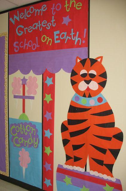 Circus Themed School Hallway Decorations