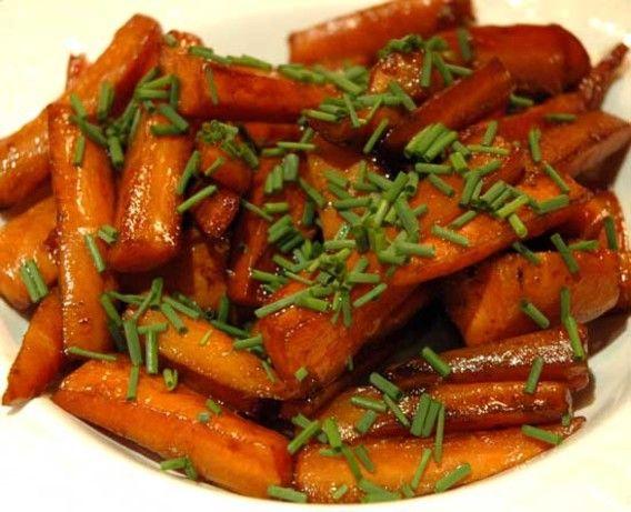 Морковь глазированная бальзамическим уксусом и маслом Рецепт - Food.com