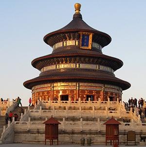 een gebedshuis in China