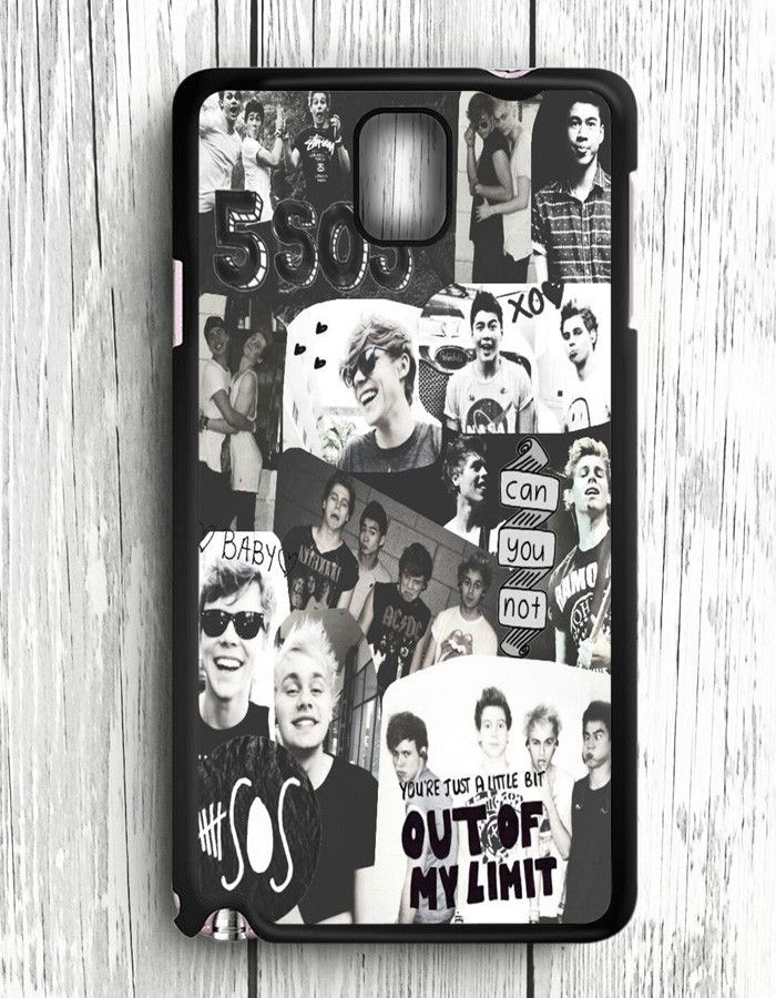 5 Second Of Summer Collage Black And White Samsung Galaxy Note 3 | Samsung Note 3 Case