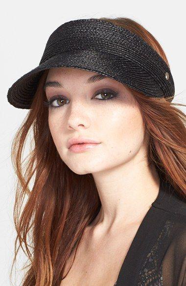 Helen Kaminski 'Losefa' Raffia Visor available at #Nordstrom