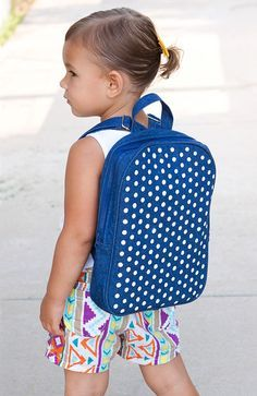 This DIY Polka Dot Backpack is perfect for little ones headed back to school.