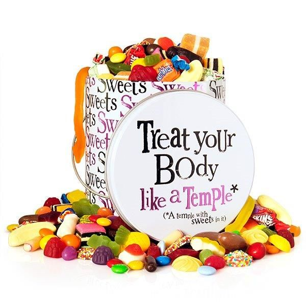 Big Sweet Tooth Tin - $45 delivered! Includes 1.2kg of confectionery, gift tag and gorgeous gift wrapping! Found here: http://www.rainbowdesigns.com.au/products/big-sweet-tooth-tin