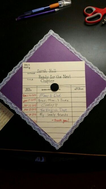 English capital and future librarian graduation cap!