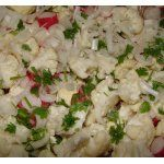 Салат из цветной капусты и редиса - кулинарный рецепт