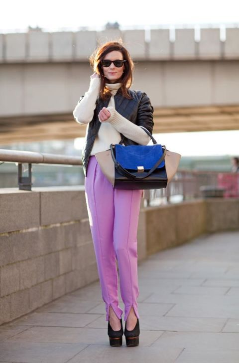 A pastel pant is utterly of-the-moment.