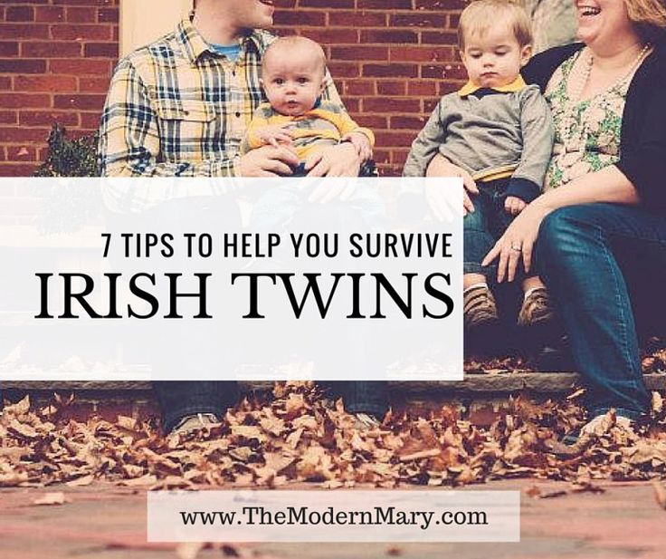 Do you have Irish Twins--or 2 kids born less than a year apart? What about 2 under 2? These 7 tips are sure to improve your life and help you survive those early years.