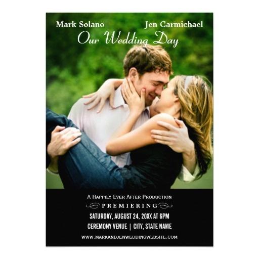 Wedding Invitation Card | Movie Poster Design - standard 5 x 7 size