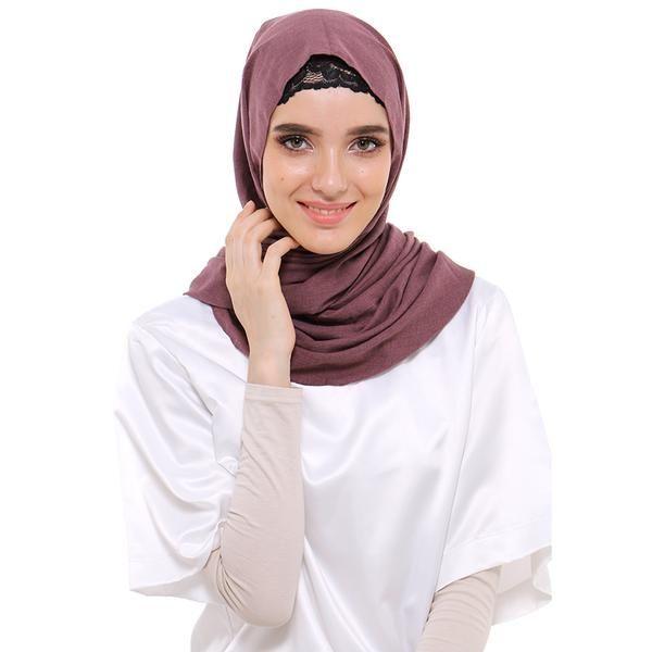 Jilbab | Hijab - Zada Pashmina Polos Cassanova - Maroon