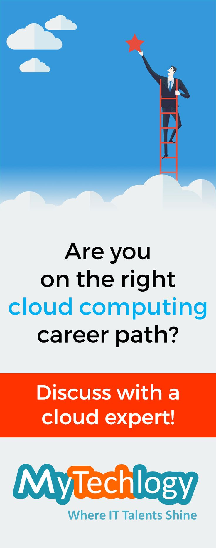 As the use of cloud computing increases within companies, jobs with cloud skills also emerge. Are you on the right cloud career path? MyTechLogy brings you an opportunity to discuss your career progression, cloud certifications, interview preparation etc., with a cloud expert.  #cloud #cloudcomputing #career #careerpath