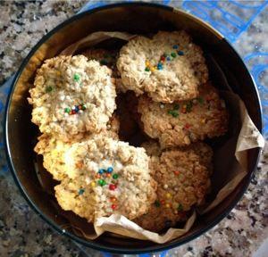 Galletas de avena, ideal para hacer con niños.