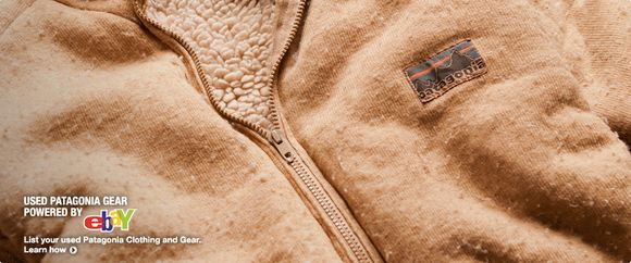 Patagonia encourages consumers to buy their gear used on eBay - great article on where to find Patagonia samples and used gear!