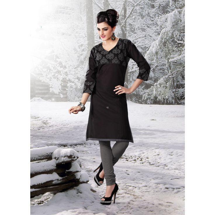 Magnificent Black Cotton #Bridal #Kurti