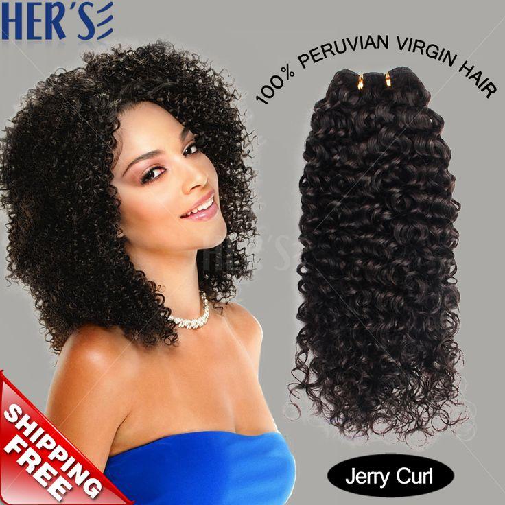 Ее перуанский глубоко вьющиеся волосы девственные переплетения, Вьющиеся богородицы перуанский девы волос 100% человеческих волос ткачество, Мокрый и волнистые человеческие волосы