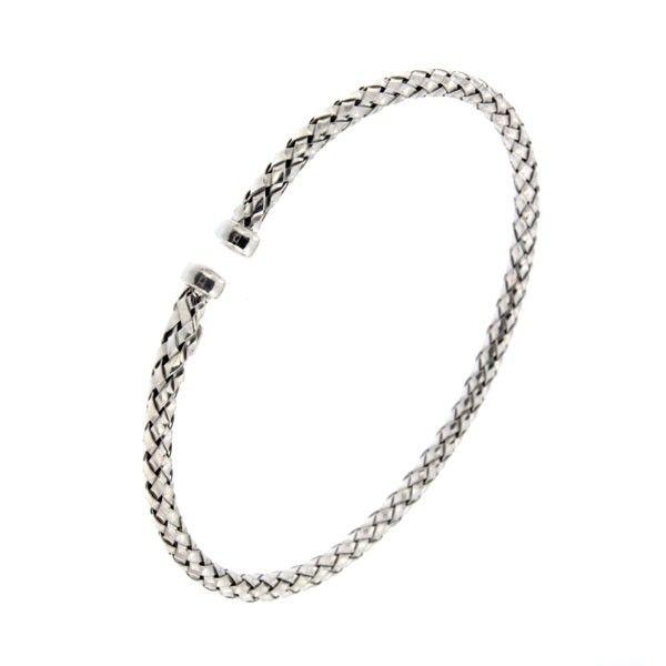 Bracelet jonc en argent pour femme