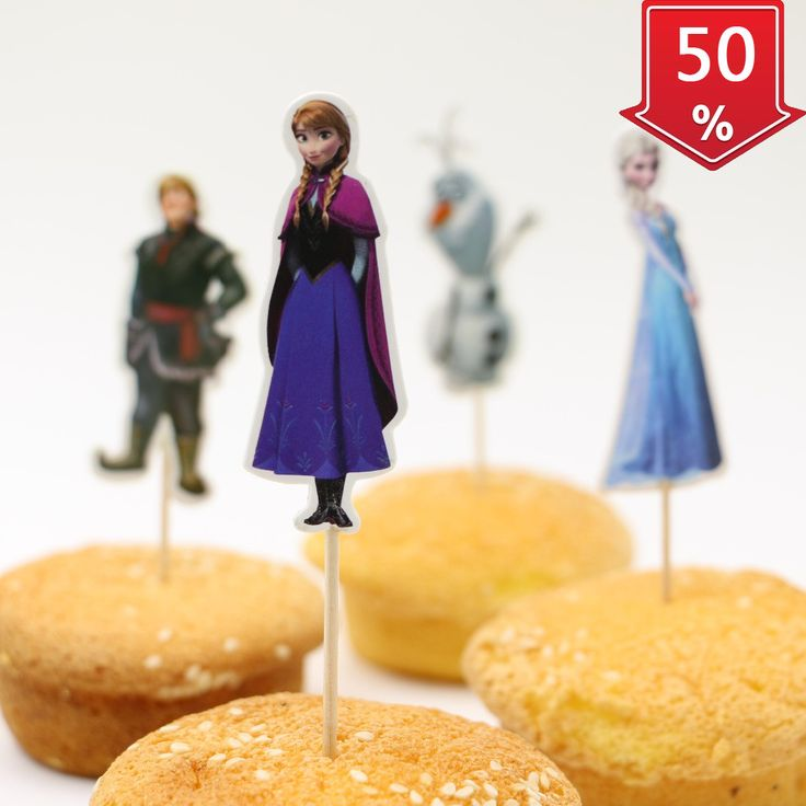 24pcs/lot Kids Favors Anna Elsa Princess Girl Birthday Party Decoration Foods picks wedding paper cup cake toppers Wrappers ** Want additional info? Click on the image.
