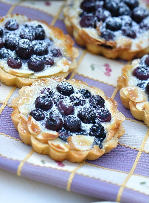 blueberry almond tarts from Fresh New England