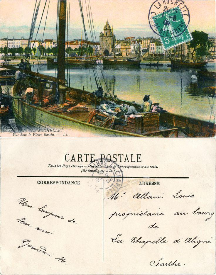 La Rochelle - Vue dans le Vieux Bassin - 1908 (from http://mercipourlacarte.com/picture?/1950/)