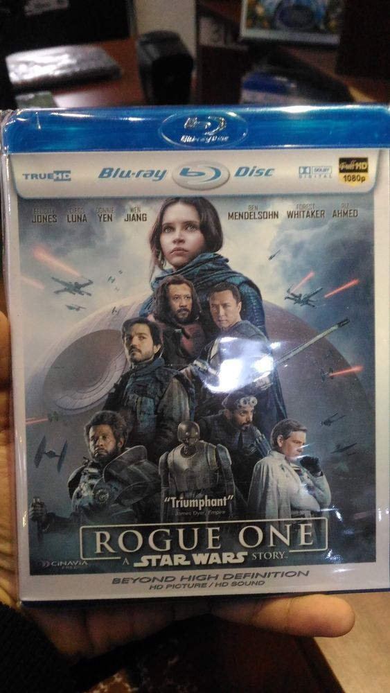 Rougue One A star Wars Story Bluray Movie Free Shipping !!